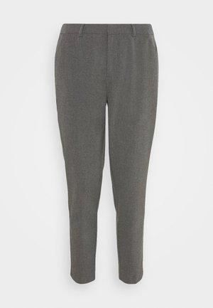 Slim fit business trousers - Spodnie materiałowe - mottled dark grey