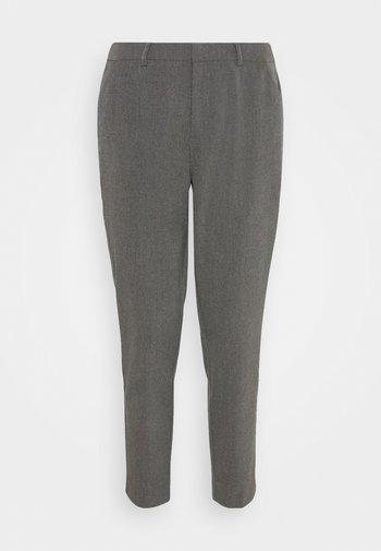 Slim fit business trousers - Kalhoty - mottled dark grey