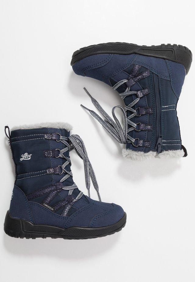 MILLIE - Winter boots - marine/grau