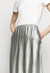 MM6 Maison Margiela - A-line skirt - light grey - 3