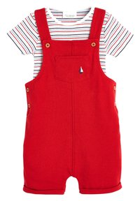 Next - RED DUNGAREES AND BODYSUIT SET (0MTHS-2YRS) - Body - red - 0