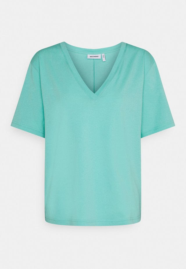 LAST V NECK - T-shirt basic - turqoise green