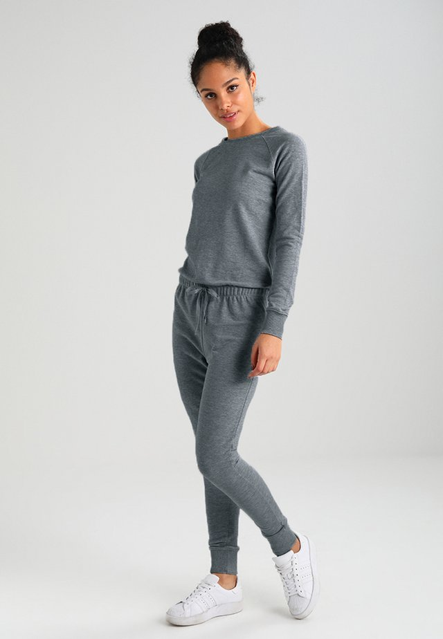CREW NECK - Tuta jumpsuit - grey marl