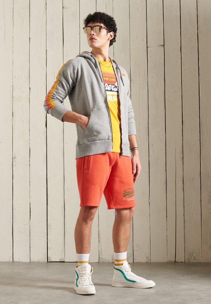 Superdry - CORE LOGO CALI RAGLAN  - Zip-up hoodie - grey slub