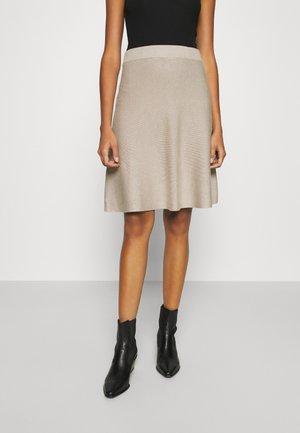 VIPLISANA SKIRT - Áčková sukně - natural melange
