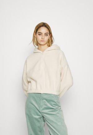 CROPPED - Fleece jumper - natural