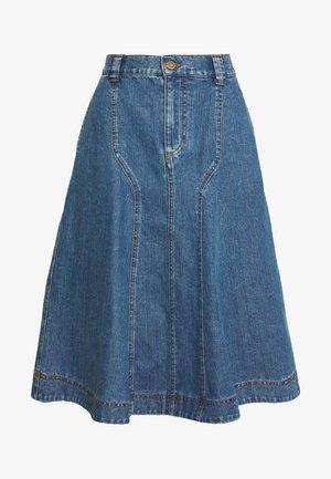 A-line skirt - deep denim