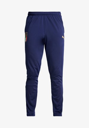 ITALIEN FIGC TRAINING PANT  - Tracksuit bottoms - peacoat/puma team gold