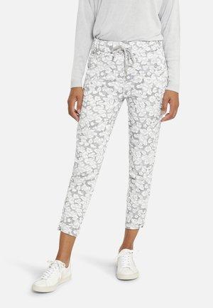 Kalhoty - silver grey print