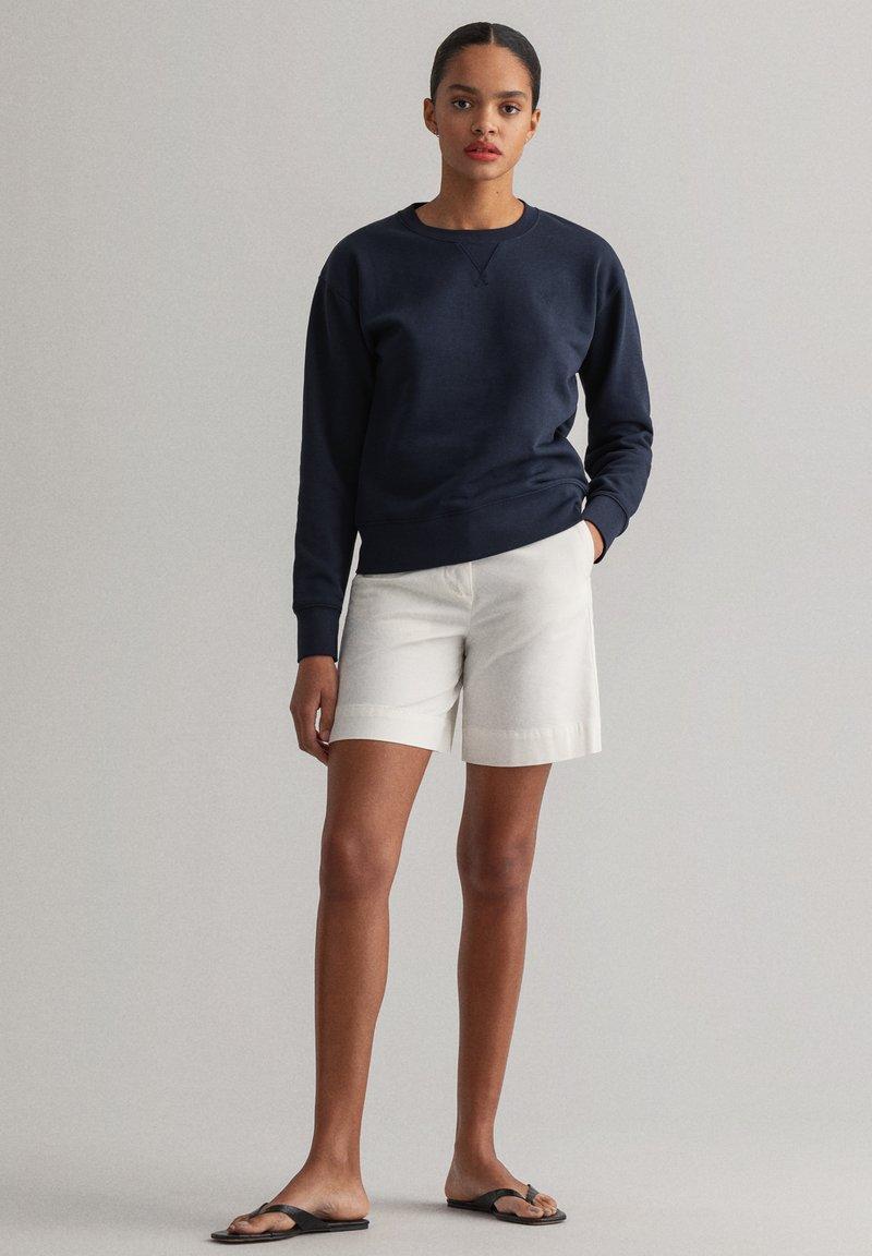 GANT - ORIGINAL C-NECK SWEAT - Sweatshirt - evening blue