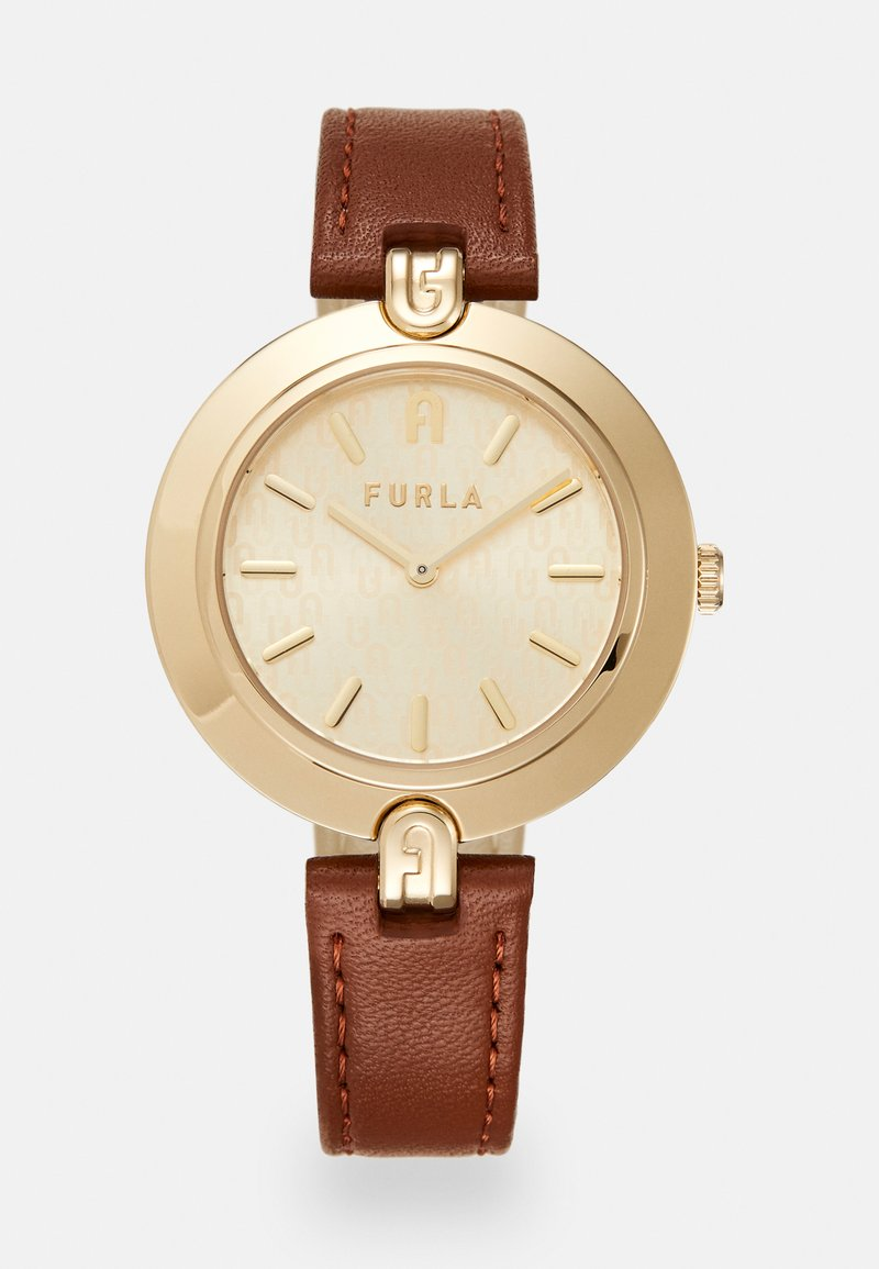 Furla - FURLA LOGO LINKS - Klokke - brown/gold-coloured