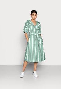 esmé studios - WRAP AROUND DRESS - Day dress - frosty spurce/snow white - 1