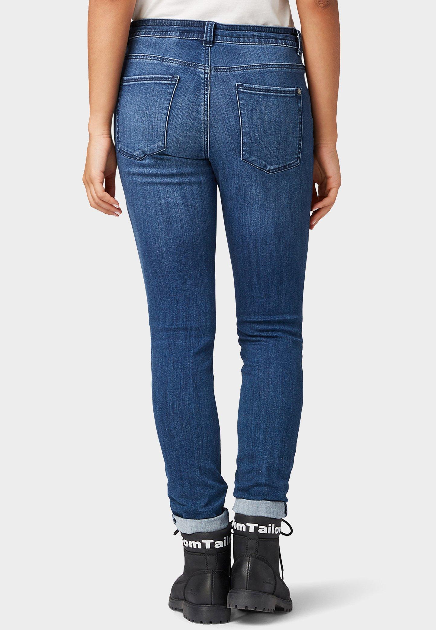 TOM TAILOR Jeans Skinny - mid stone bright blue denim - Jeans Femme 7YPoV