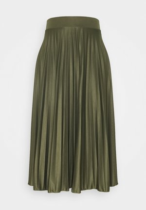 PLEAT SKIRT - A-line skirt - khaki