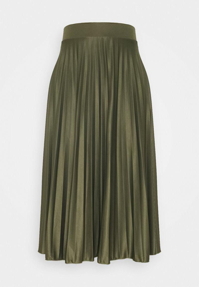 Dorothy Perkins Tall - PLEAT SKIRT - A-line skirt - khaki