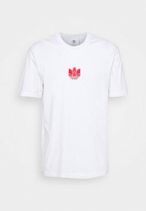 TEE UNISEX - T-shirts med print - white/scarlet