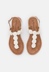 Tamaris - T-bar sandals - white - 5