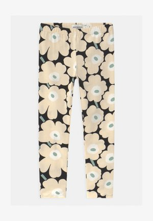LAIRI MINI UNIKOT - Leggings - black/beige/light green