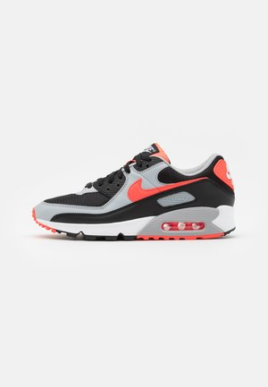 AIR MAX 90 UNISEX - Sneakers laag - black/radiant red-white/wolf grey