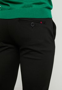 Denim Project - PONTE ROMA PLAIN - Pantalones - black - 3