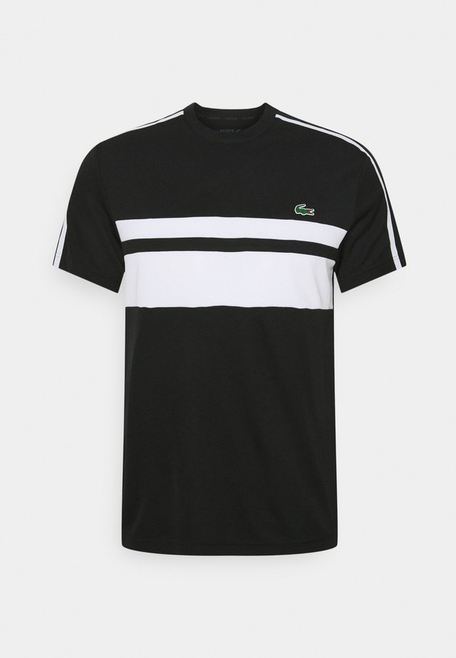 TENNIS - T-shirt imprimé - black/white