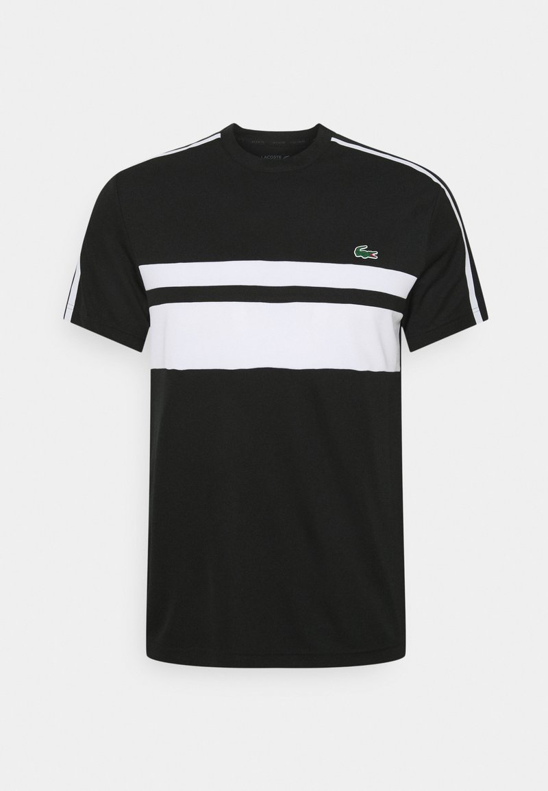 Lacoste Sport - TENNIS - Print T-shirt - black/white