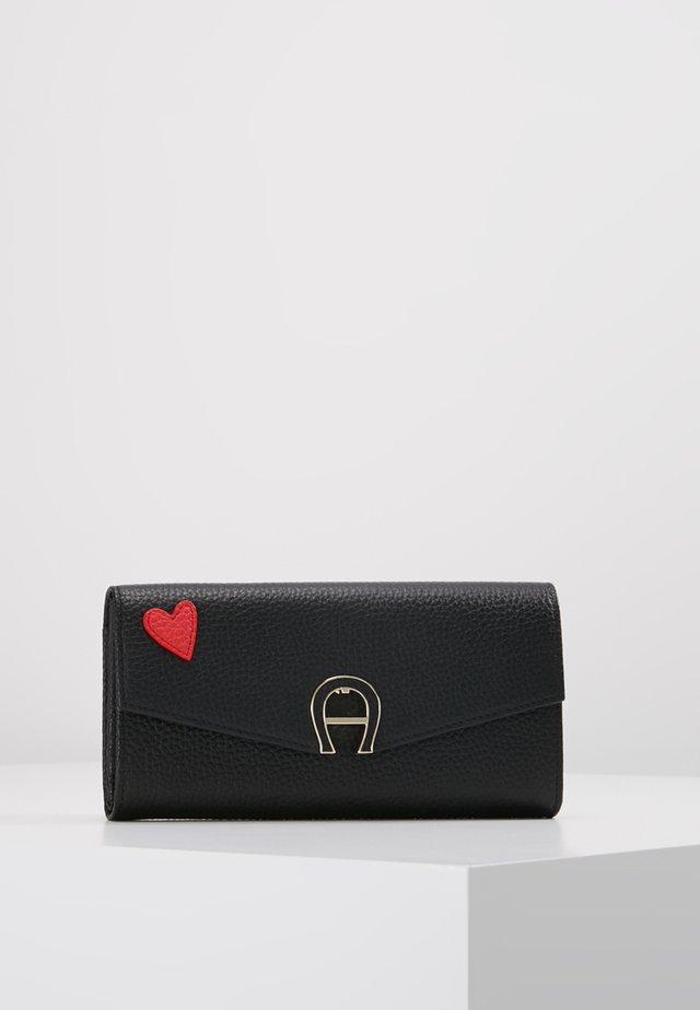 HEART FLAPOVER PURSE - Wallet - black