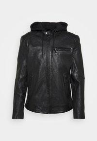 GET START - Leather jacket - black