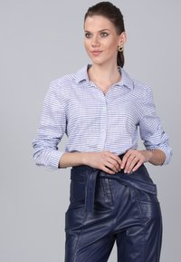 Basics and More - Button-down blouse - blue - 2