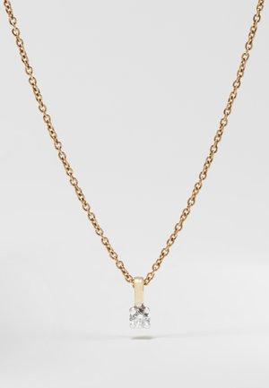 NATURAL DIAMOND PENDANT 0.09CARAT SOLITAIRE DIAMOND PENDANT 9KT WHITE GOLD DIAMOND JEWELLERY GIFTS FOR WOMENS - Kaulakoru - gold-coloured