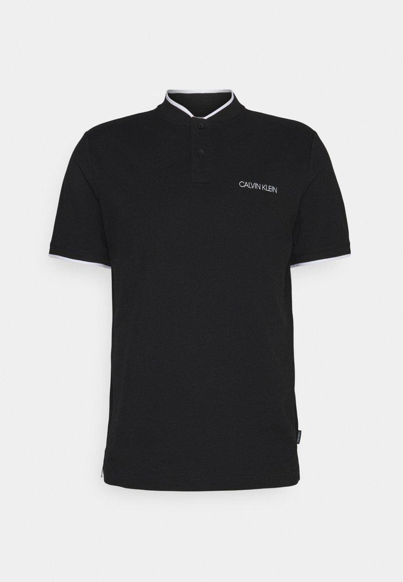 Calvin Klein - STRETCH TIPPING  MAO SLIM FIT - Pikeepaita - black