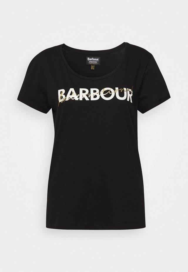 PORTIMAO TEE - Print T-shirt - black