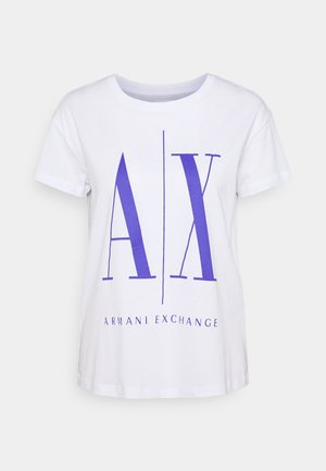 Print T-shirt - white/simply purple