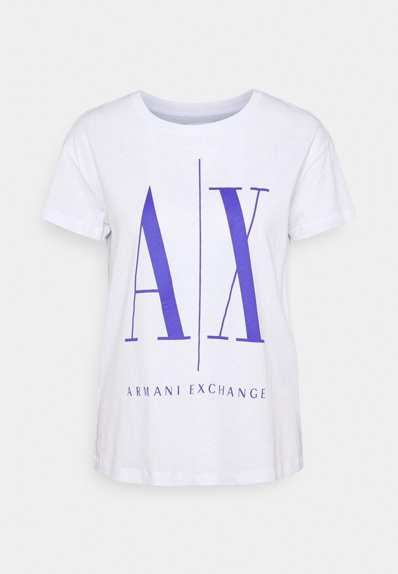 Armani Exchange - Print T-shirt - white/simply purple