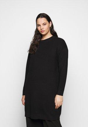 KCBELL - Gebreide jurk - black deep