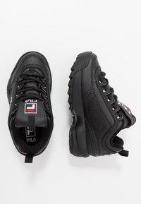 Fila - DISRUPTOR KIDS - Sneakers laag - black - 0