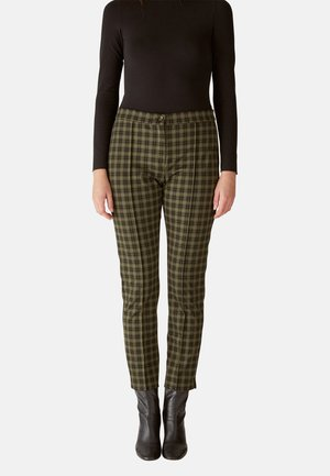MIT JACQUARD-MUSTER - Trousers - verde