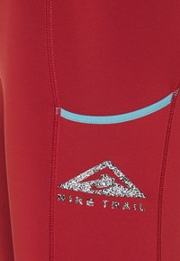 Nike Performance - EPIC LUXE TRAIL - Tights - dark cayenne/cerulean/silver - 2