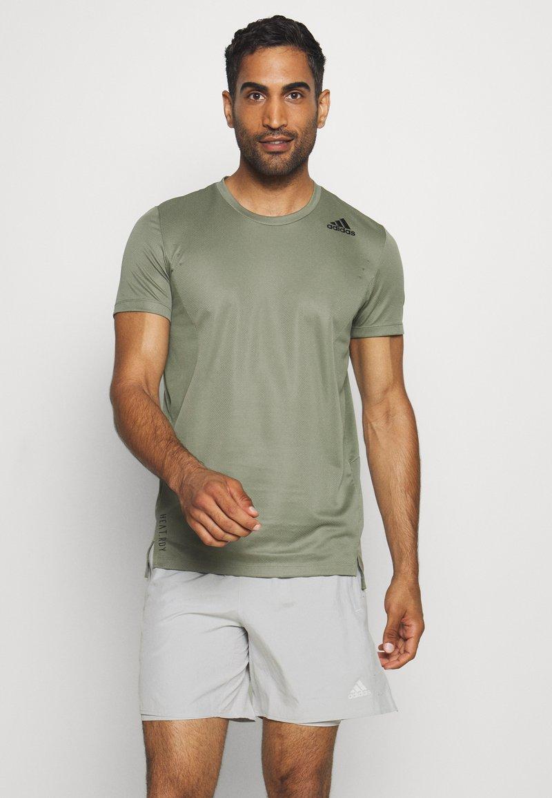 adidas Performance - HEAT.RDY TRAINING SLIM SHORT SLEEVE TEE - T-shirt imprimé - legend green