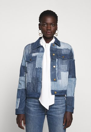 PATCHWORK JACKET - Jeansjakke - medium indigo