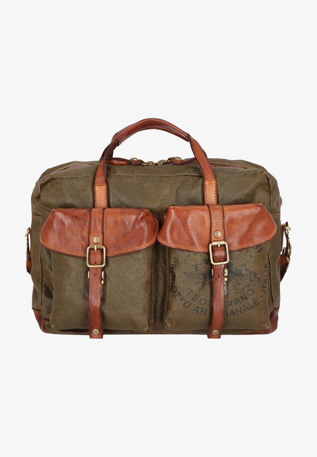 Laptop bag - militare-cognac/nera