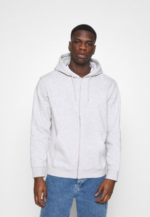 STANDARD ZIP HOODIE - Felpa aperta - light grey melange