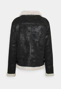 Sixth June - REGULAR AVIATOR JACKET - Faux leather jacket - black - 1