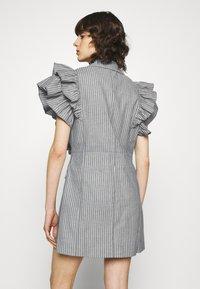 Custommade - KOBANE - Waistcoat - black/white - 2