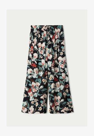 CULOTTE AUS LEICHTEM STOFF - Trousers - nero st.lake flowers