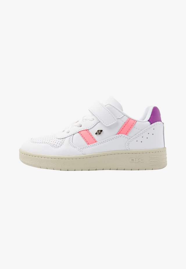RAWW - Sneakers laag - white/neon peach/purple