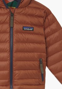 Patagonia - REVERSIBLE HOODY UNISEX - Down jacket - camel/multi-coloured - 4