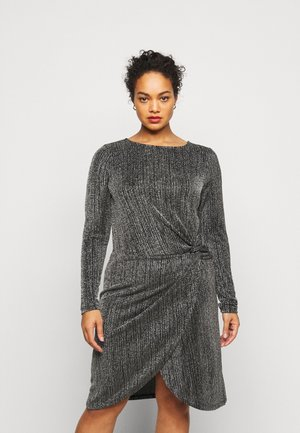 VMKAIDA SHORT DRESS - Cocktailjurk - black/silver