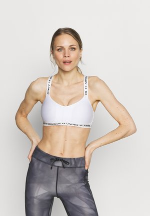 CROSSBACK LOW - Light support sports bra - white