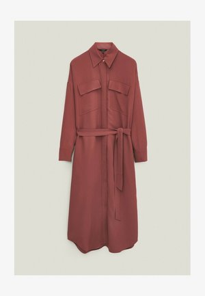 Shirt dress - bordeaux